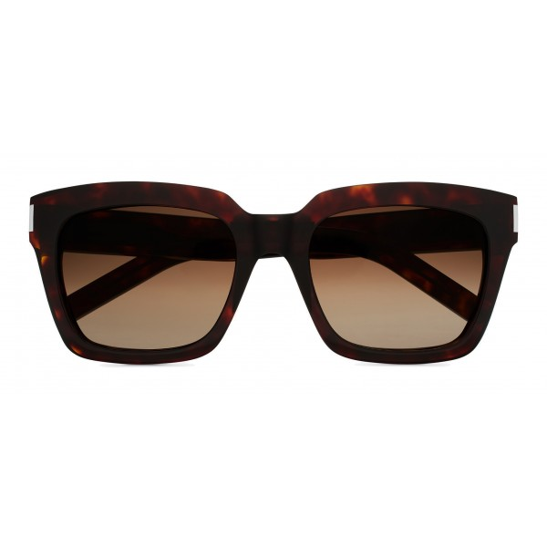 Yves Saint Laurent - Bold SL1 Sunglasses with Square Thick Brown Frames and Nylon Gradient Lenses- Saint Laurent Eyewear