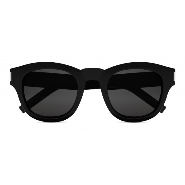 75d5558df2 Yves Saint Laurent - Bold SL2 Sunglasses with Round Thick Frames and Nylon  Lenses - Black - Saint Laurent Eyewear - Avvenice