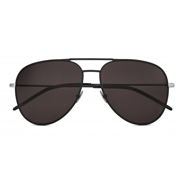 Yves Saint Laurent - Classic SL 11 Aviator Sunglasses with Double Metal Bridge and Nylon Lenses - Black - Saint Laurent Eyewear