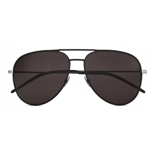 Yves Saint Laurent - Occhiali da Sole Classic SL 11 Aviator con Doppio Ponte in Metallo - Nero - Saint Laurent Eyewear