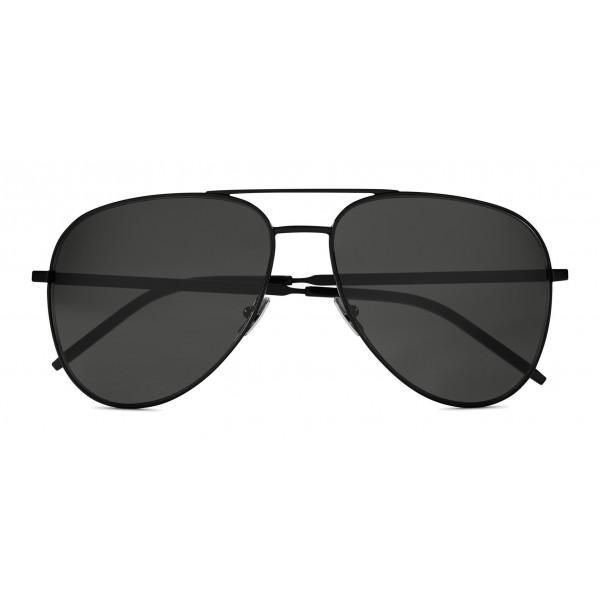 0f7735b7e1e89 Yves Saint Laurent - Classic SL 11 Folk Aviator Sunglasses with Double Metal  Bridge - Black - Saint Laurent Eyewear - Avvenice