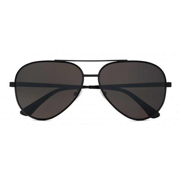 Yves Saint Laurent - Classic SL 11 Zero Aviator Sunglasses with Double Metal Bridge - Black - Saint Laurent Eyewear