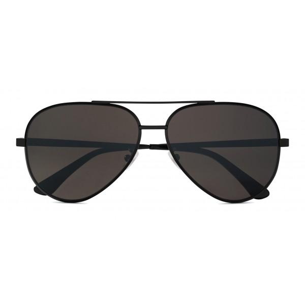 Yves Saint Laurent - Occhiali da Sole Classic SL 11 Zero Aviator con Doppio Ponte in Metallo - Nero - Saint Laurent Eyewear