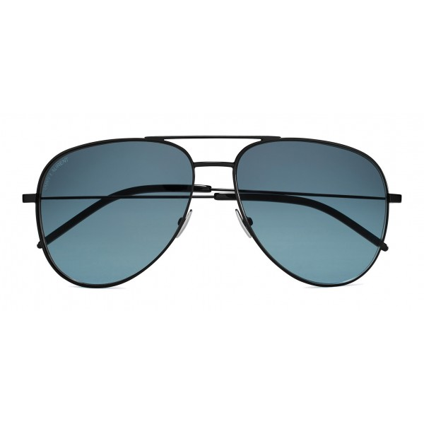 Yves Saint Laurent - Classic SL 11 Aviator Sunglasses with Double Brass Bridge and Nylon Lenses - Black - Saint Laurent Eyewear