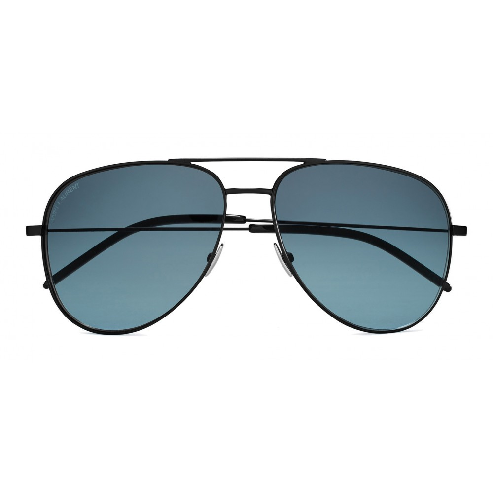 438bcc523f918 Yves Saint Laurent - Classic SL 11 Aviator Sunglasses with Double Brass  Bridge and Nylon Lenses ...