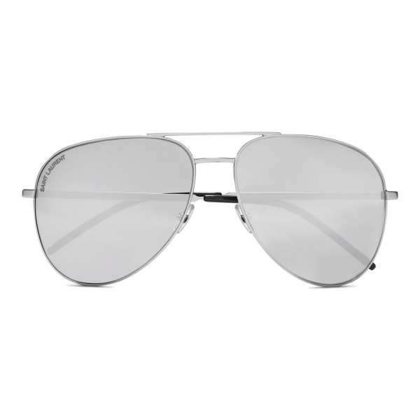 3bd8b9f75e113 Yves Saint Laurent - Classic SL 11 Folk Aviator Sunglasses with Double  Metal Bridge - Oxidized