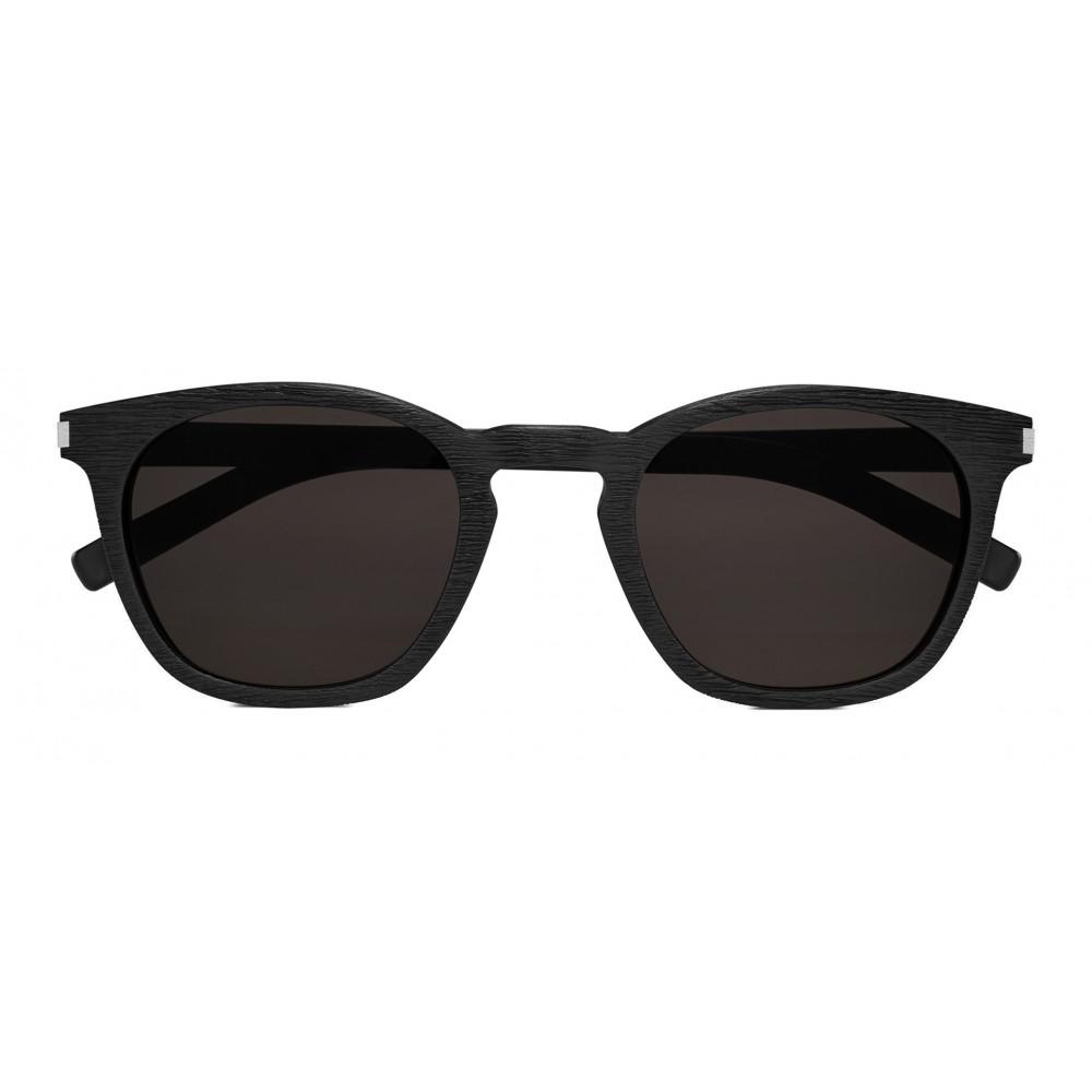 0b0db3711c7 Yves Saint Laurent - Classic SL 28 Sunglasses with Rounded Square Frame -  Black - Saint Laurent Eyewear - Avvenice