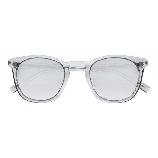 Yves Saint Laurent Classic Sl 28 Sunglasses With Rounded Square Frame Transparent Saint Laurent Eyewear Avvenice Buy branded transparent sunglasses and goggles frames for men and women in different colours, materials and brands at prices on lenskart.com. yves saint laurent classic sl 28 sunglasses with rounded square frame transparent saint laurent eyewear