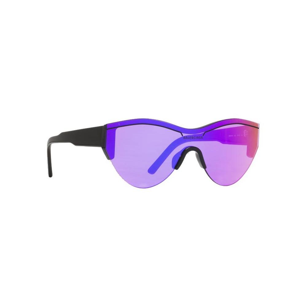 15e9cc86a89 ... Balenciaga - Ski Cat Sunglasses in Black Acetate with Purple Lenses -  Sunglasses - Balenciaga Eyewear