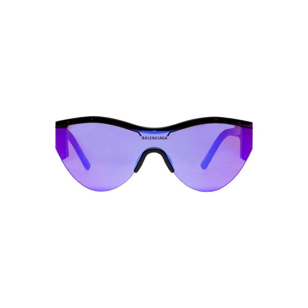 fe7d5a13ab1 Balenciaga - Ski Cat Sunglasses in Black Acetate with Purple Lenses -  Sunglasses - Balenciaga Eyewear ...