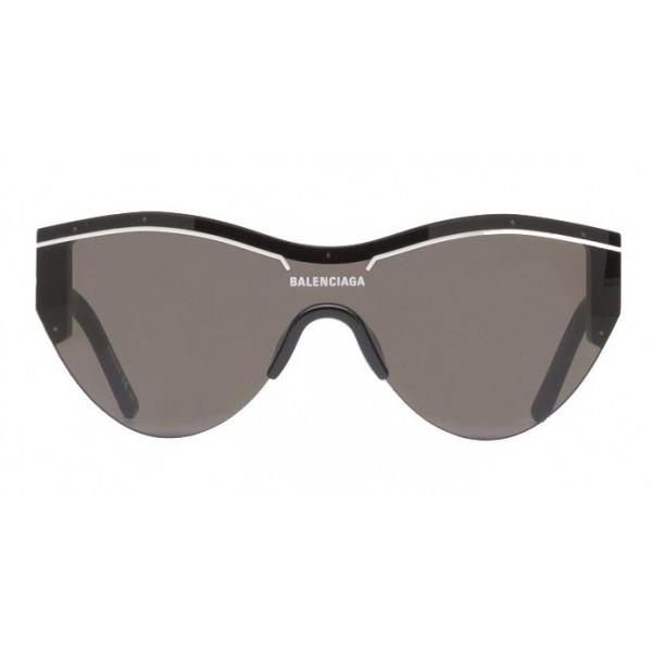 Balenciaga - Occhiali da Sole Ski Cat in Acetato Nero con Lenti Nere - Occhiali da Sole - Balenciaga Eyewear