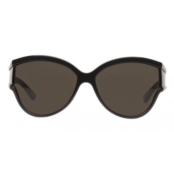 Balenciaga - Limited Round Sunglasses in Black Acetate with Black Lenses - Sunglasses - Balenciaga Eyewear