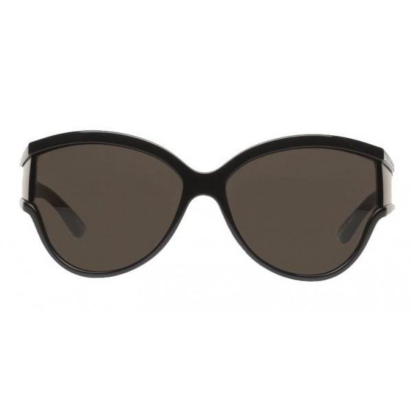 Balenciaga - Occhiali da Sole Limited Round in Acetato Nero con Lenti Nere - Occhiali da Sole - Balenciaga Eyewear