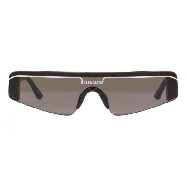 Balenciaga - Occhiali da Sole Ski Rectangle in Acetato Nero con Lenti Nere - Occhiali da Sole - Balenciaga Eyewear