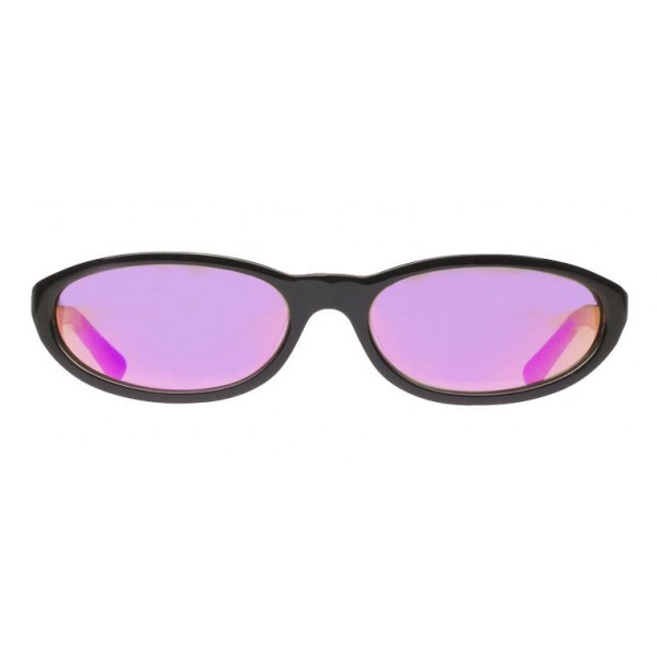 Balenciaga - Occhiali da Sole Neo Round in Acetato Nero con Lenti Rosa - Occhiali da Sole - Balenciaga Eyewear