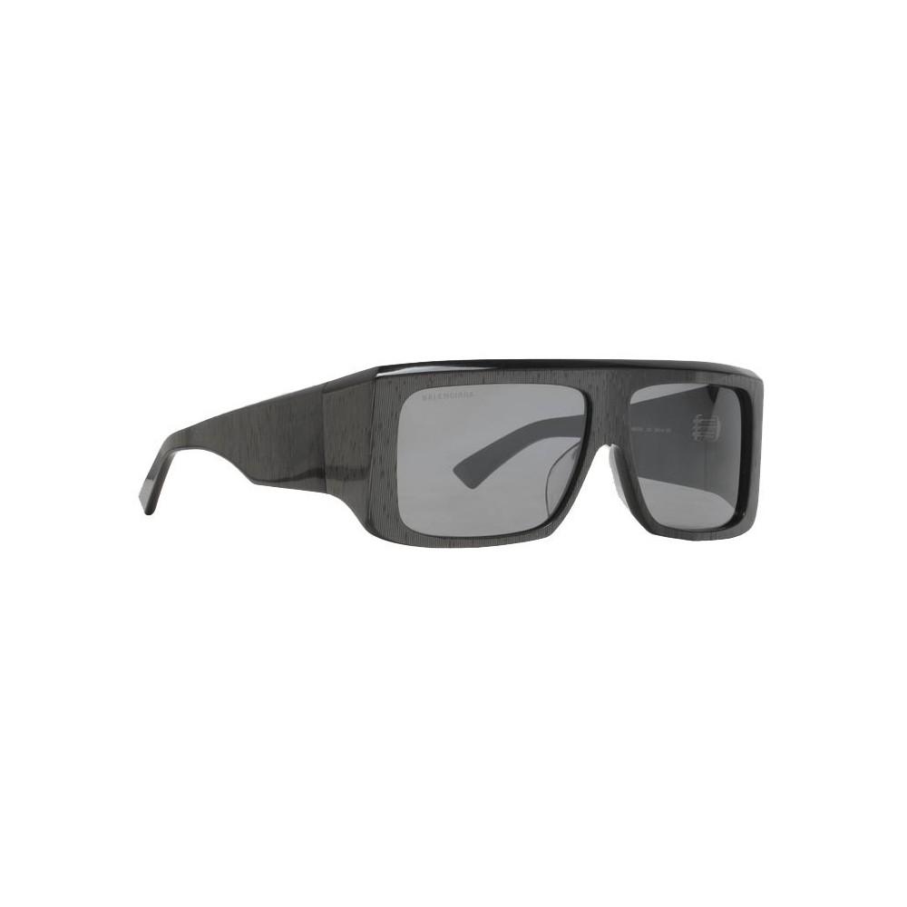 36719bf89b84 ... Balenciaga - Thick Square Acetate Gray Dark Sunglasses with Gray Lenses  - Sunglasses - Balenciaga Eyewear