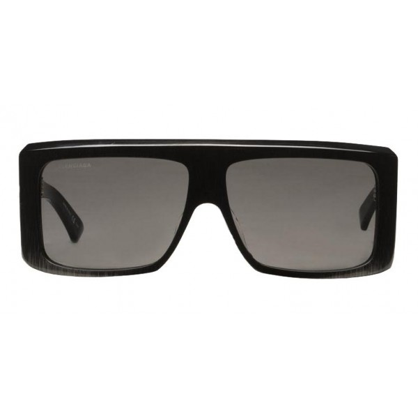 Balenciaga - Thick Square Acetate Gray Dark Sunglasses with Gray Lenses - Sunglasses - Balenciaga Eyewear