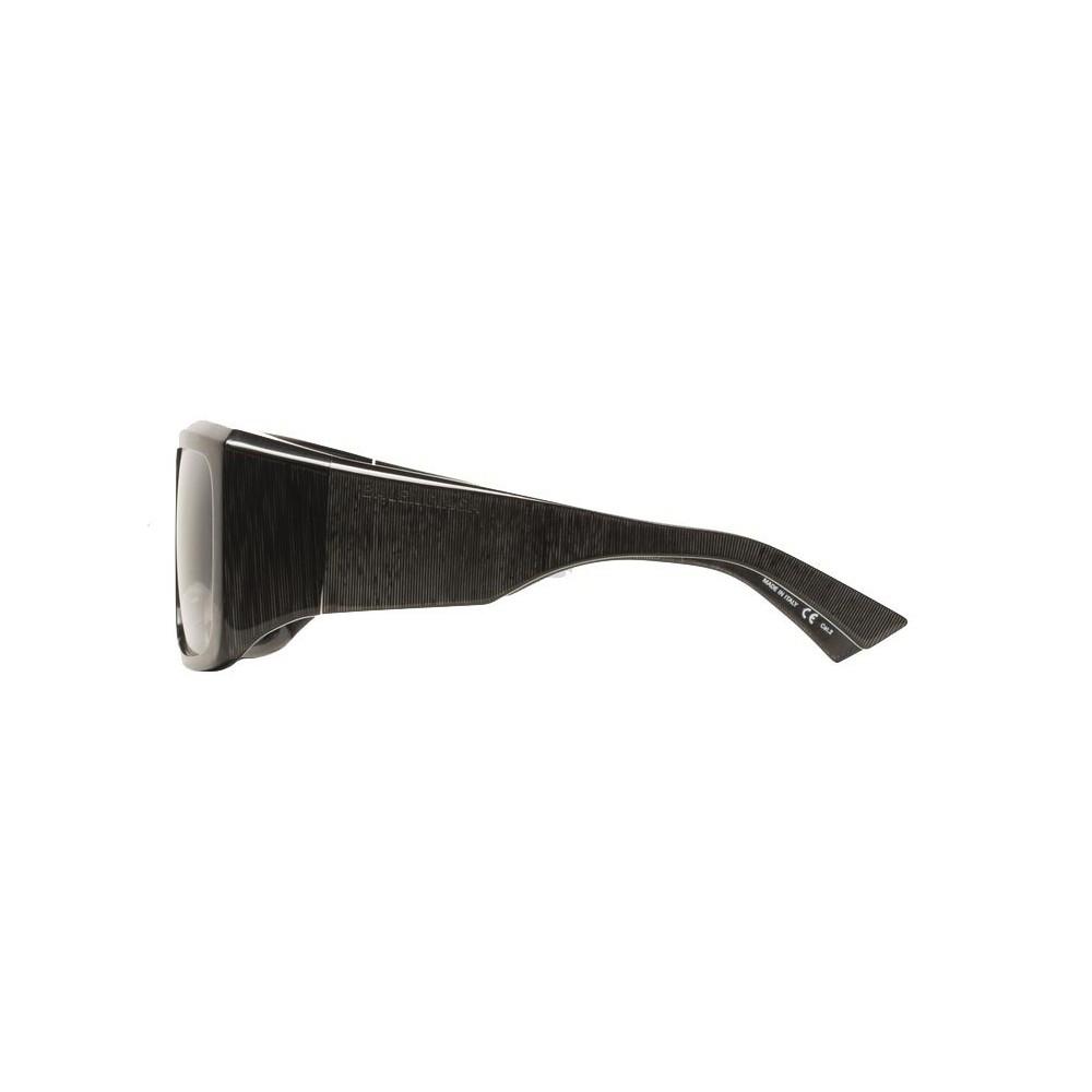 b09657b37463 ... Balenciaga - Thick Square Acetate Gray Dark Sunglasses with Gray Lenses  - Sunglasses - Balenciaga Eyewear ...