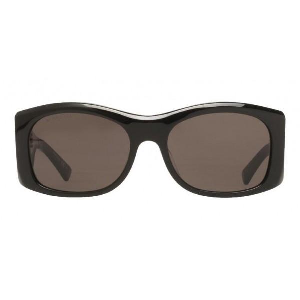 Balenciaga - Occhiali da Sole Thick Round in Acetato Grigio Scuro con Lenti Grigie - Occhiali da Sole - Balenciaga Eyewear