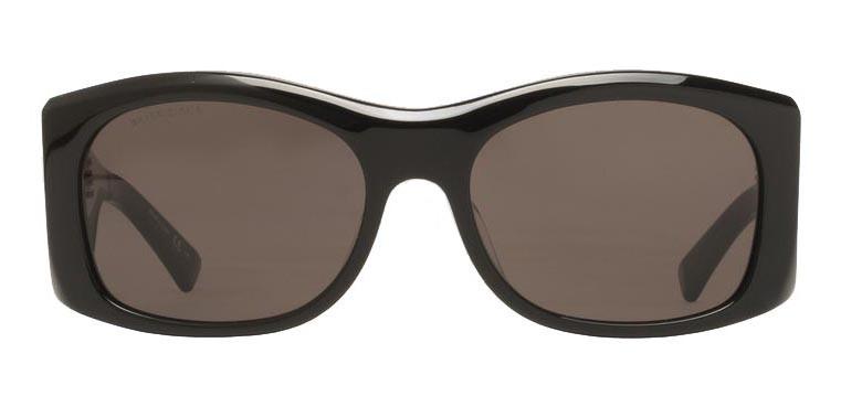 3d9be6ca8de5 Balenciaga - Thick Round Acetate Gray Dark Sunglasses with Gray Lenses -  Sunglasses - Balenciaga Eyewear - Avvenice