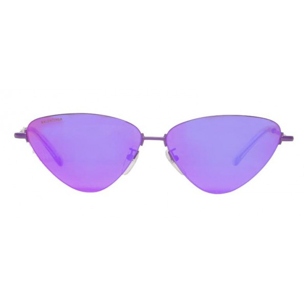 Balenciaga - Invisible Cat Sunglasses in Purple Metal with Purple Lenses - Sunglasses - Balenciaga Eyewear