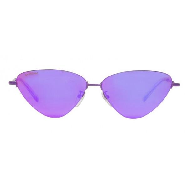 Balenciaga - Occhiali da Sole Invisible Cat in Metallo Viola con Lenti Viola - Occhiali da Sole - Balenciaga Eyewear