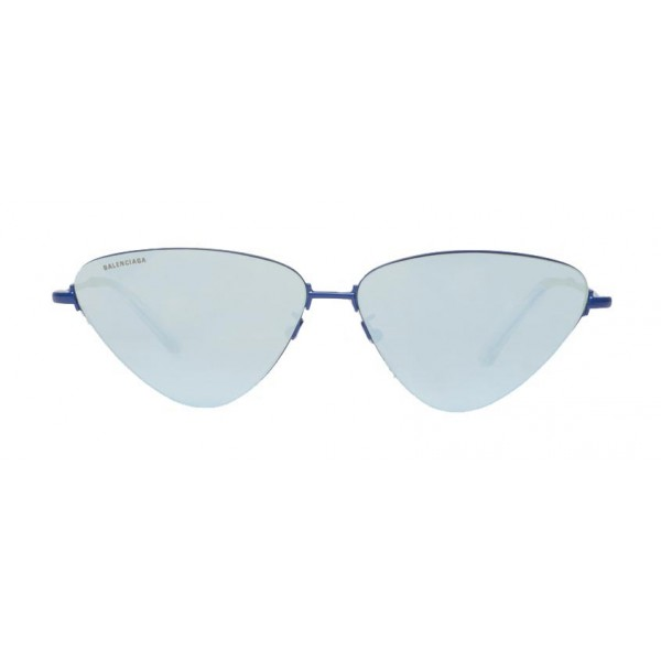 Balenciaga - Invisible Cat Sunglasses in Blue Metal with Blue Lenses - Sunglasses - Balenciaga Eyewear