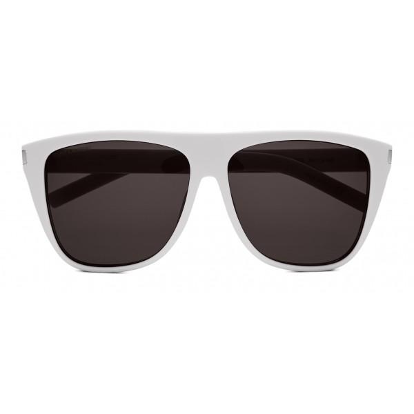ca62a6732ef Yves Saint Laurent - New Wave SL 1/F Sunglasses with Square Wellington  Frame - White Stonewash - Saint Laurent Eyewear - Avvenice