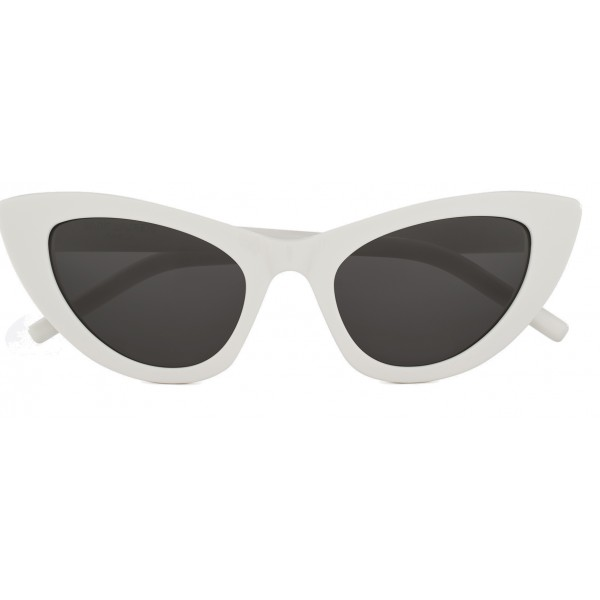 b98515313c308 Yves Saint Laurent - New Wave SL 213 Lily Sunglasses with Triangular Frame  - White - Saint Laurent Eyewear - Avvenice