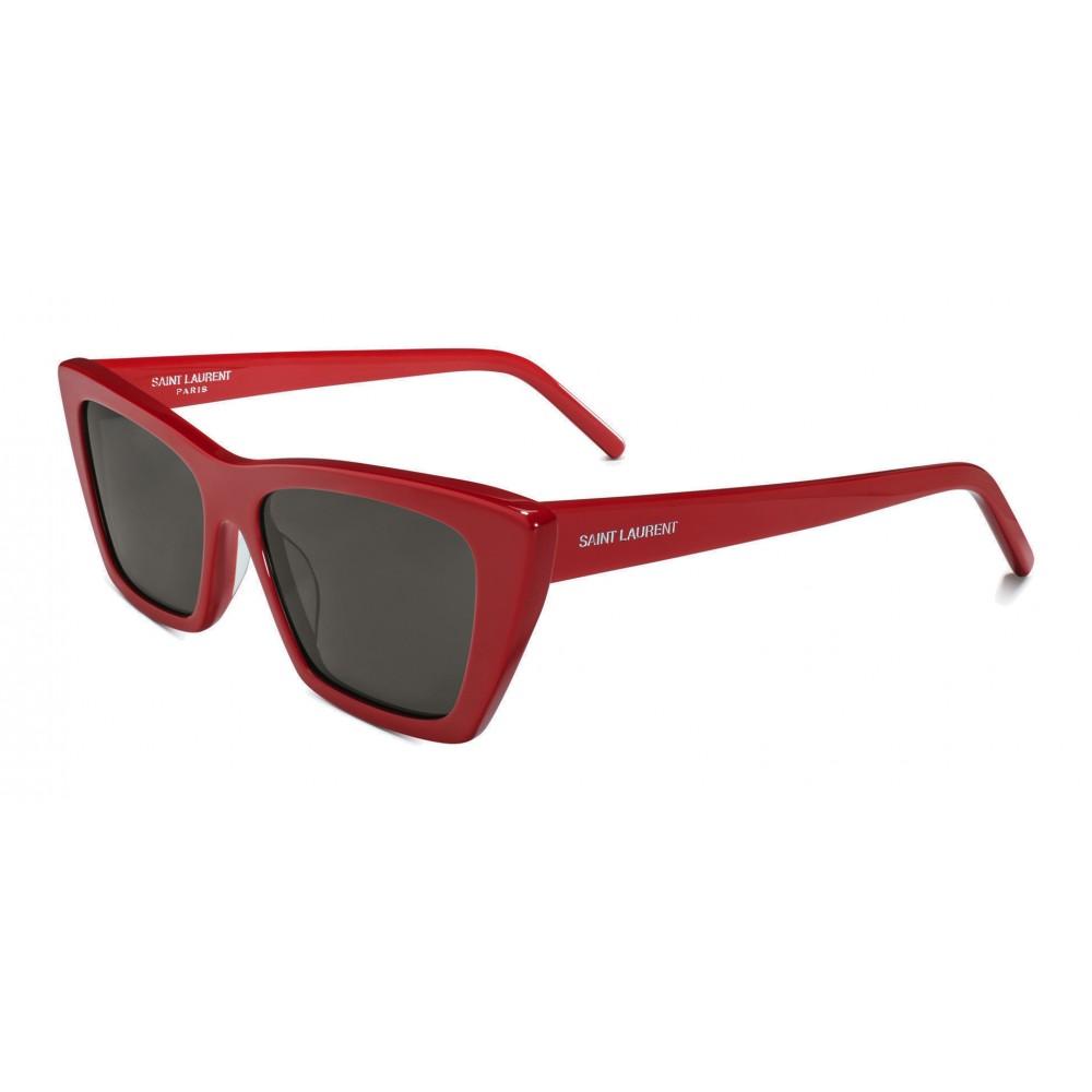 a1fe5d39f90 ... Yves Saint Laurent - New Wave SL 276 Sunglasses with Triangular Frame -  Red - Saint
