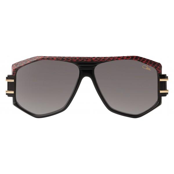 Cazal - Vintage 163 in Pelle - Legendary - Limited Edition - Neri - Rossi - Occhiali da Sole - Cazal Eyewear