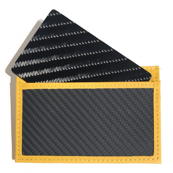 TecknoMonster - Tecksabrage & Cardcase - Giallo - Sciabolatore in Fibra di Carbonio Aeronautico e Titanio - Carpet Collection