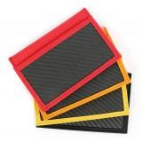 TecknoMonster - Tecksabrage & Cardcase - Rosso - Sciabolatore in Fibra di Carbonio Aeronautico e Titanio - Carpet Collection