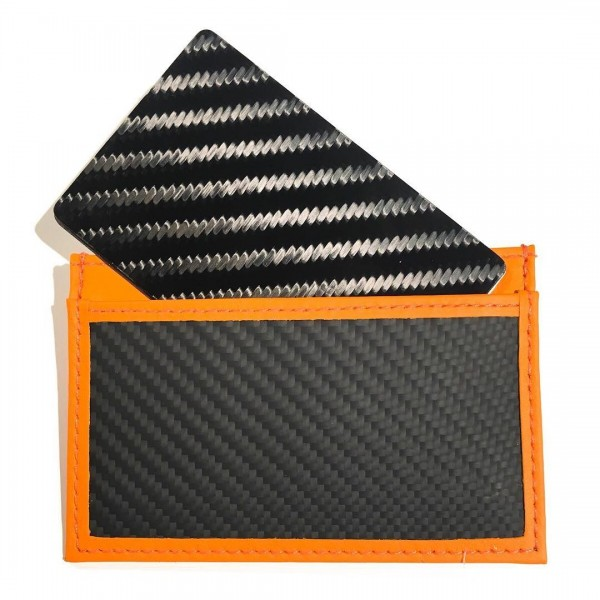 TecknoMonster - Tecksabrage & Cardcase - Arancione - Sciabolatore in Fibra di Carbonio Aeronautico e Titanio - Carpet Collection