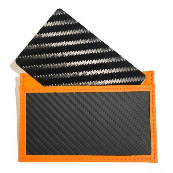 TecknoMonster - Tecksabrage & Cardcase - Orange - Aeronautical and Titanium Carbon Fiber Saber - Black Carpet Collection