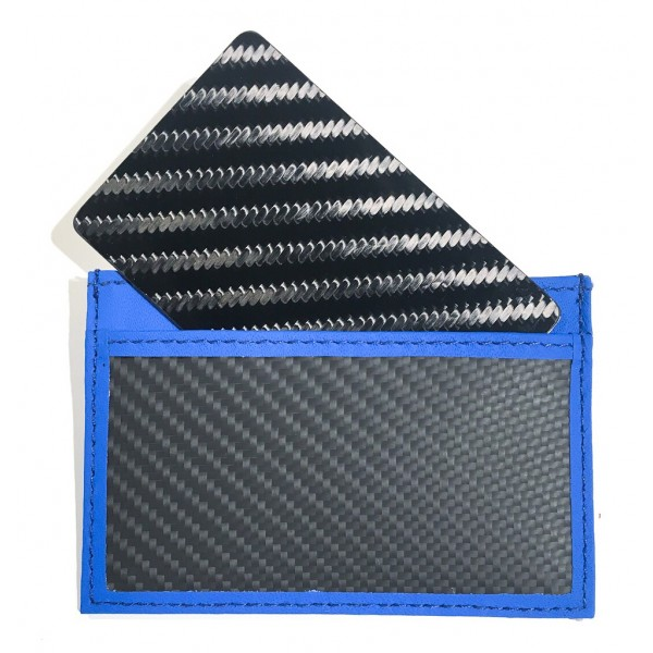 TecknoMonster - Tecksabrage & Cardcase - Blu - Sciabolatore in Fibra di Carbonio Aeronautico e Titanio - Carpet Collection