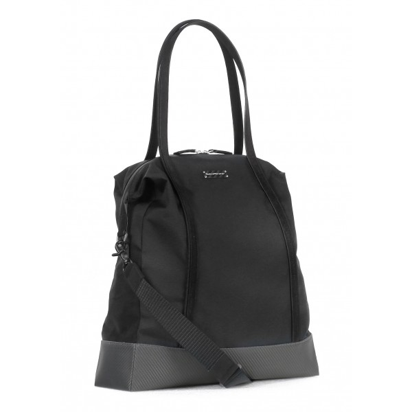 TecknoMonster - Borsa Borzy in Fibra di Carbonio e Alcantara® - Black Carpet Collection