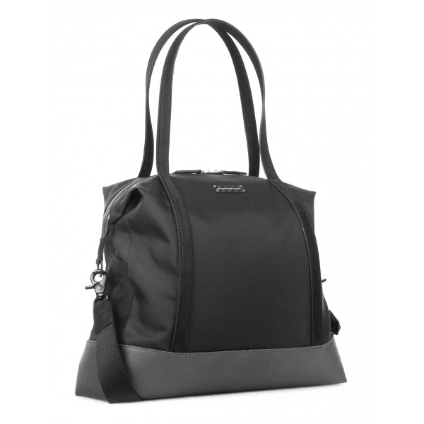 TecknoMonster - Borsa Borzy S in Fibra di Carbonio e Alcantara® - Black Carpet Collection