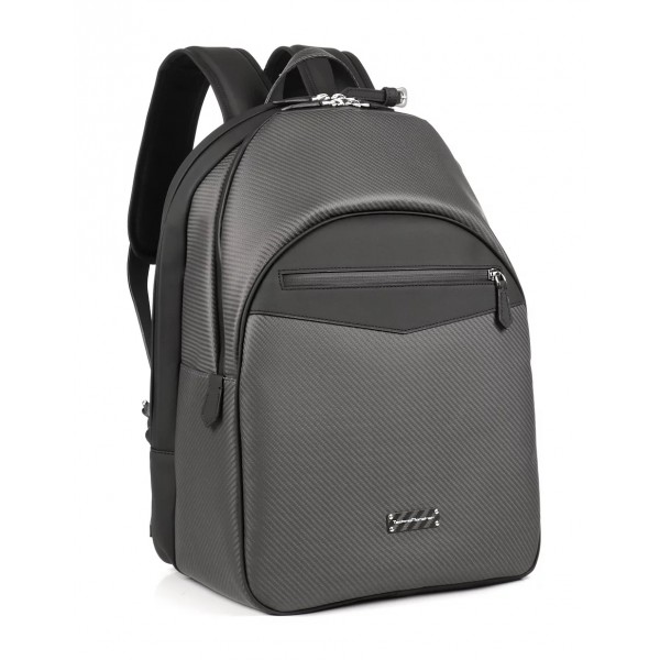 TecknoMonster - Dragon Backpack in Carbon Fiber and Alcantara® - Black Carpet Collection