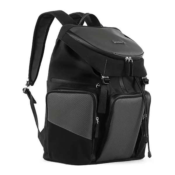 TecknoMonster - Klimber Backpack in Carbon Fiber and Alcantara® - Black Carpet Collection