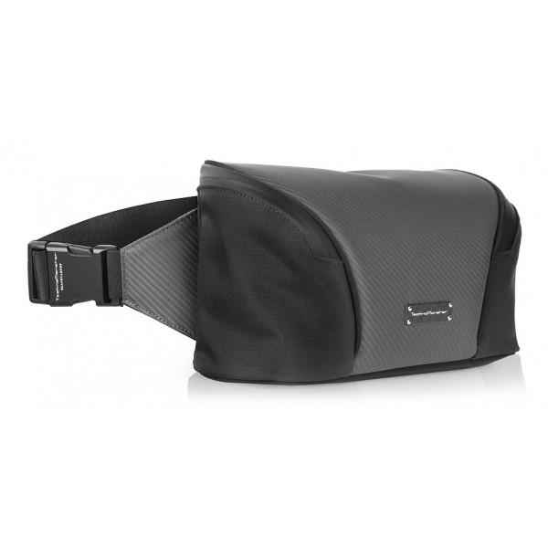 TecknoMonster - Zuppy Waist Bag in Carbon Fiber and Alcantara® - Black Carpet Collection