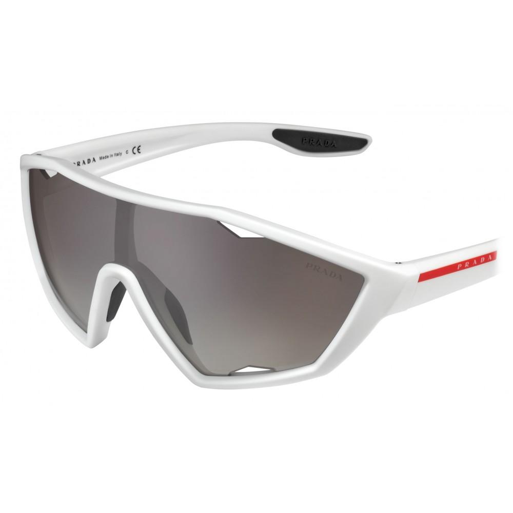 a43414ec7bc3 ... Prada - Prada Linea Rossa Collection - Contemporary Sunglasses - White  - Prada Collection - Sunglasses ...