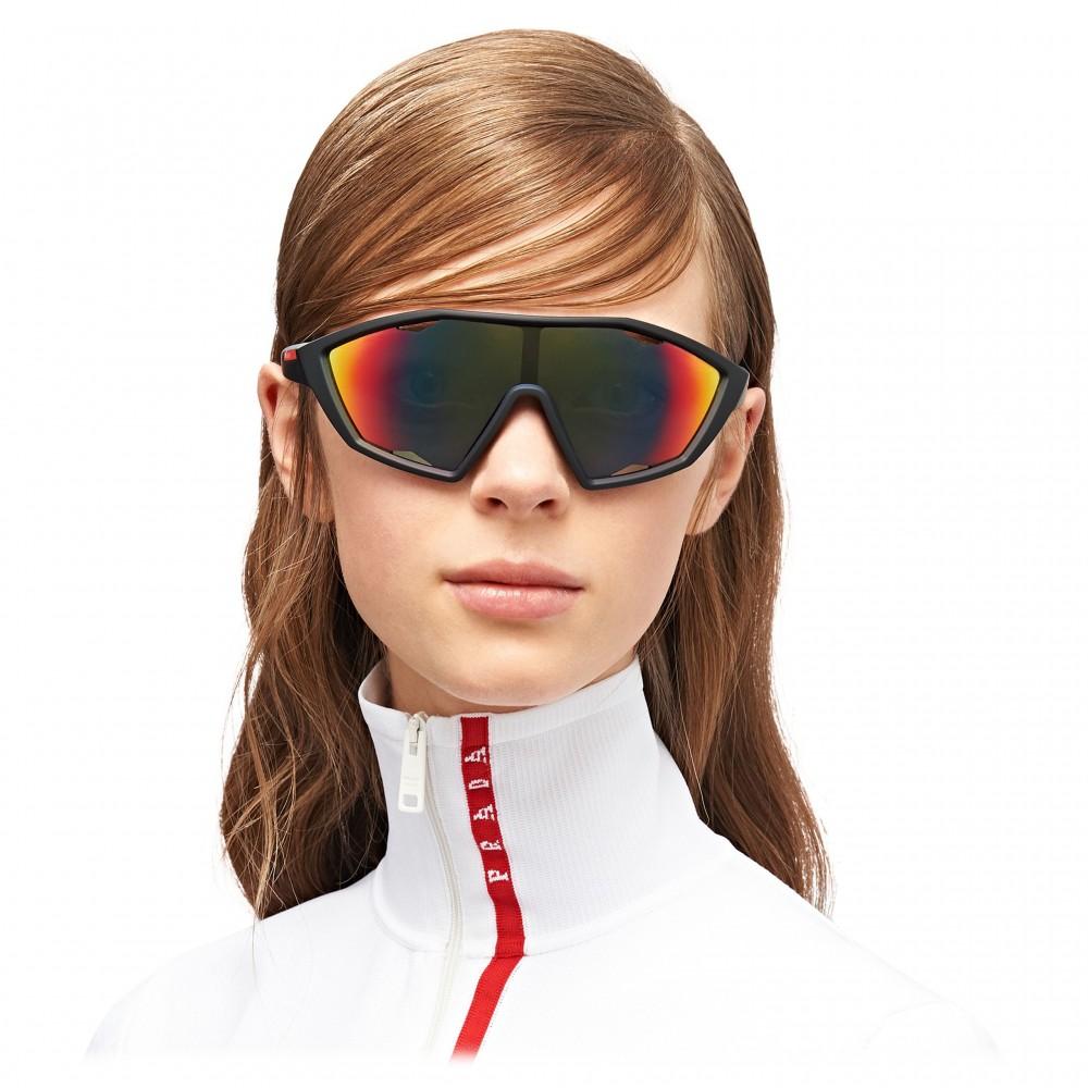 f68ab41acda8 ... Prada - Prada Linea Rossa Collection - Contemporary Sunglasses - Black  - Prada Collection - Sunglasses ...