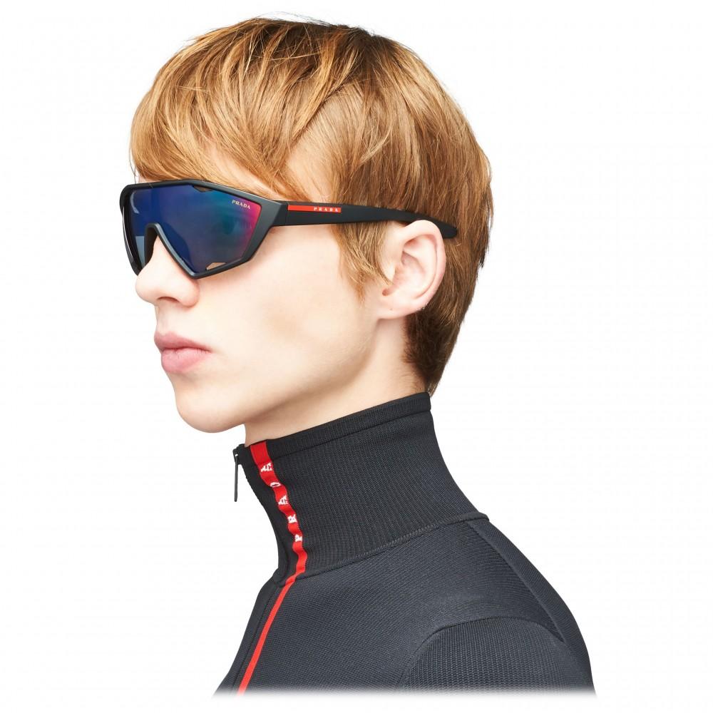 eb5016857e30 ... Prada - Prada Linea Rossa Collection - Contemporary Sunglasses - Black  - Prada Collection - Sunglasses
