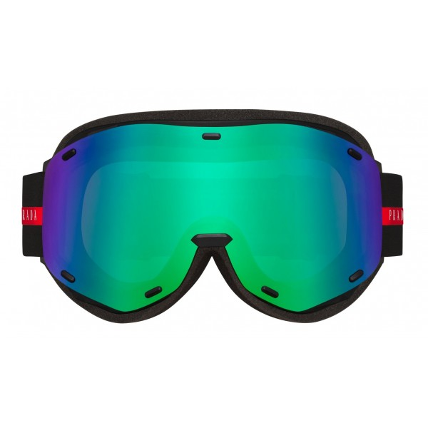 Prada - Prada Linea Rossa Collection - Maschera da Sci - Verde Blu - Prada Collection - Prada Eyewear