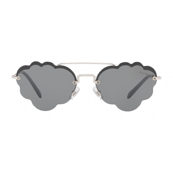 Miu Miu - Miu Miu Noir Sunglasses - Cat Eye Cloud - Black - Sunglasses - Miu Miu Eyewear