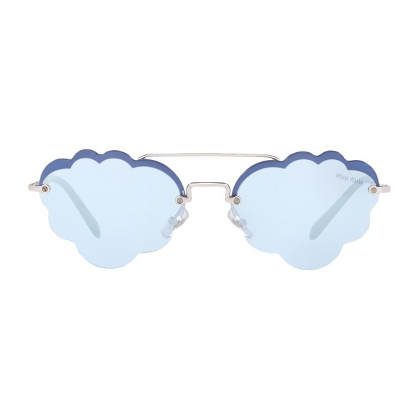 Miu Miu - Miu Miu Noir Sunglasses - Cat Eye Cloud - Periwinkle Mirror - Sunglasses - Miu Miu Eyewear