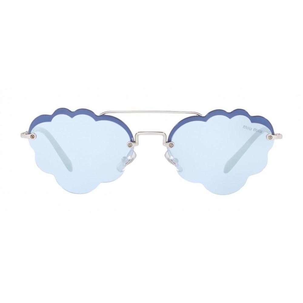 f7372e64a3 Miu Miu - Miu Miu Noir Sunglasses - Cat Eye Cloud - Periwinkle Mirror -  Sunglasses ...