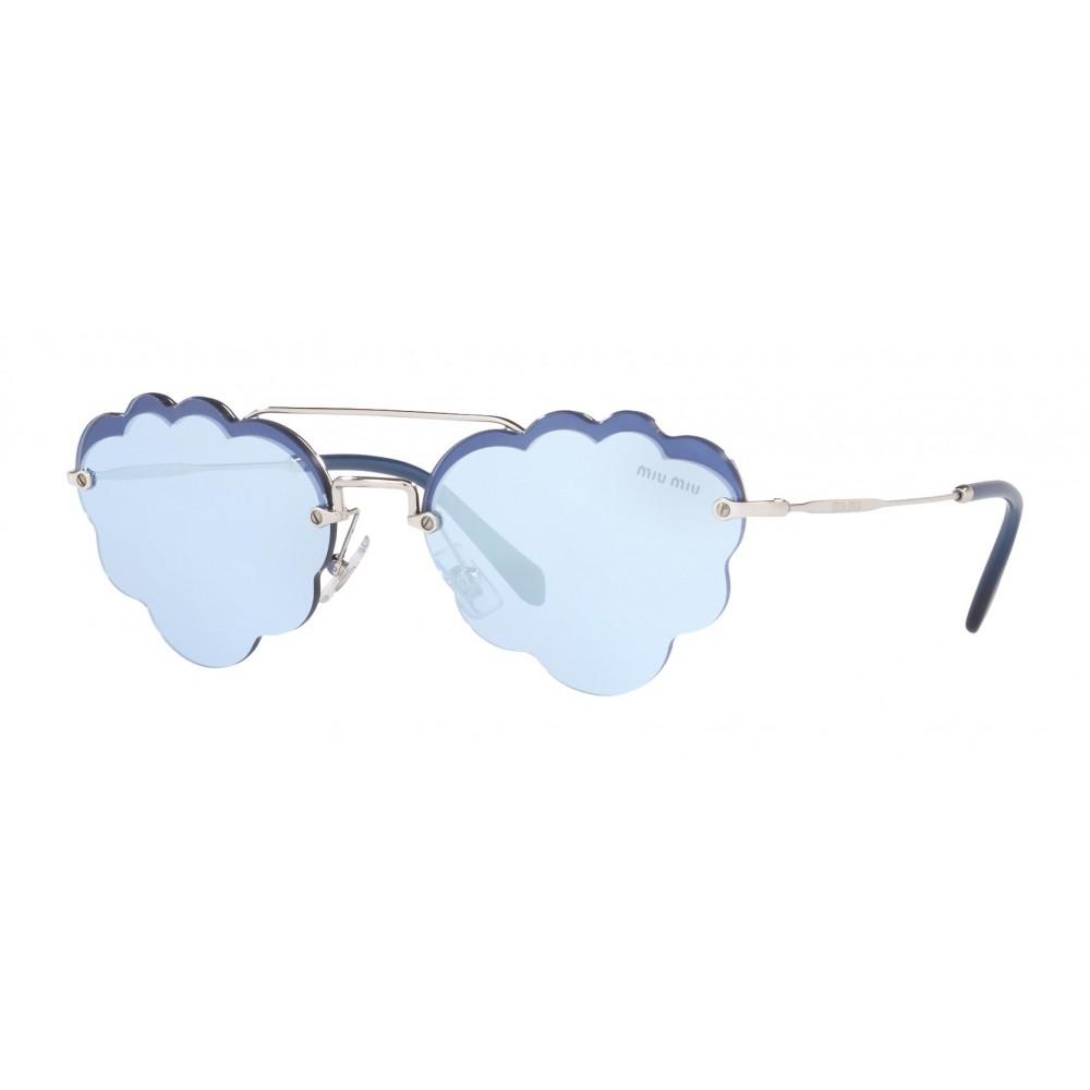 12e61a0cbf ... Miu Miu - Miu Miu Noir Sunglasses - Cat Eye Cloud - Periwinkle Mirror -  Sunglasses ...
