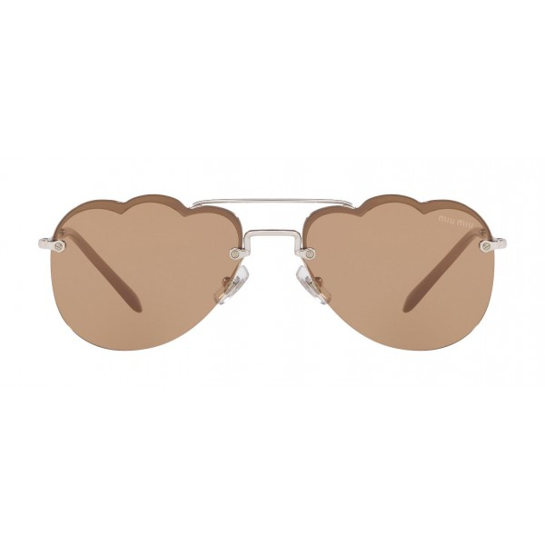 Miu Miu - Miu Miu Noir Sunglasses - Aviator Cloud - Cameo Mirror - Sunglasses - Miu Miu Eyewear